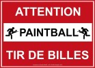 sécurité panneau-attention-paintball-tir